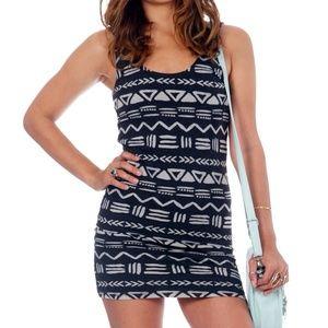 NWT Billabong Aztec Bodycon Dress Back Cutout M